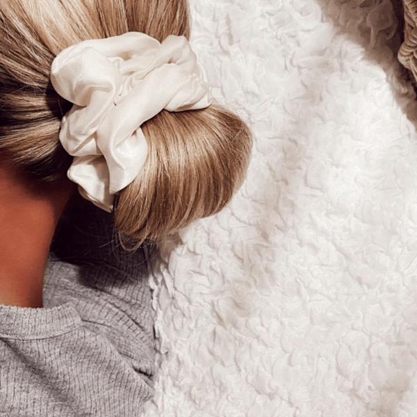 Ivory scrunchie