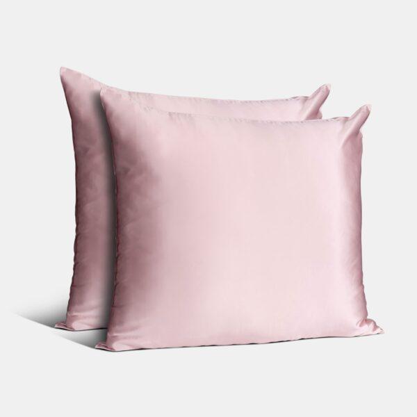 zijden kussensloop roze duo
