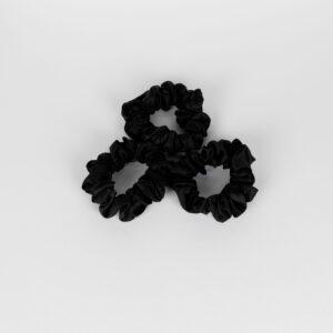zijden scrunchie zwart