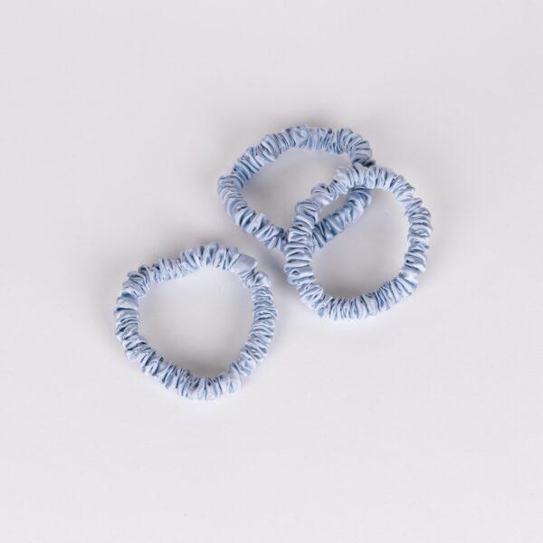 zijden scrunchie blauw