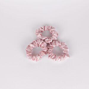 zijden scrunchie roze