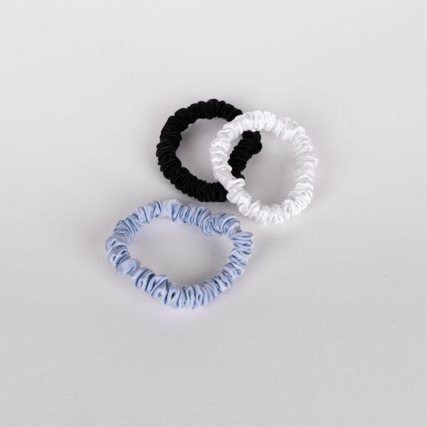 SCRUNCHIES - WHITE, BLUE & BLACK_ 2
