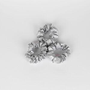 zijden scrunchie zilver